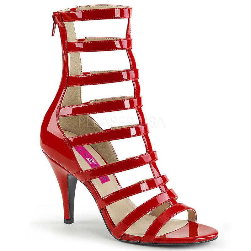 Spartiates rouges vernies - Pointure : 48 - Pleaser Pink Label - Modalova