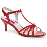 Nu-pieds rouges vernis