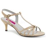 Sandales petit talon coloris caramel