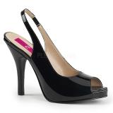 Sandales classiques noires vernies
