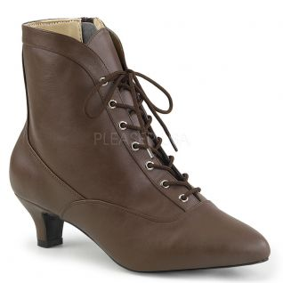 Bottines victoriennes coloris marron fab-1005