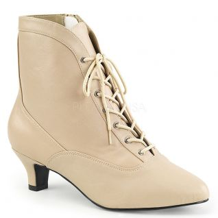 Bottines victoriennes coloris caramel fab-1005