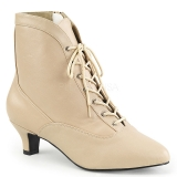 Bottines victoriennes coloris caramel