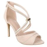 Sandales asymétriques coloris nude