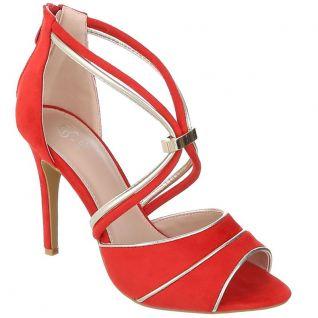 Sandales rouges à talon
