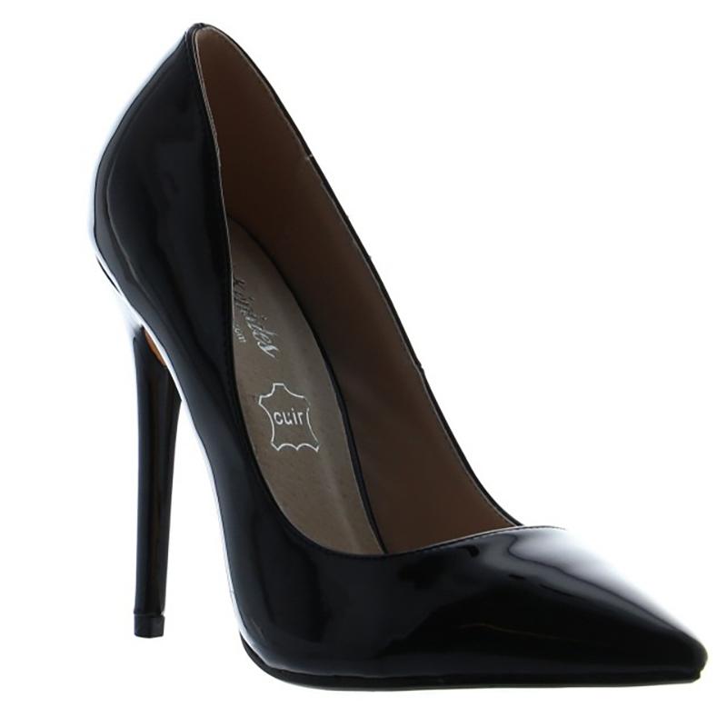 Escarpins modes noirs vernis - Pointure : 40