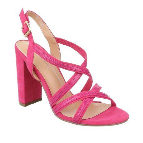 Sandales coloris fushia