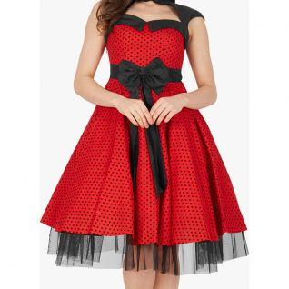 Robe Polka rouge et noire