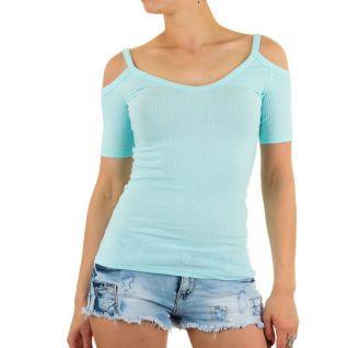 Top femme coloris turquoise