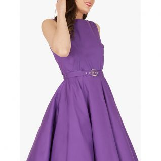 Robe Rockabilly violette sans manches