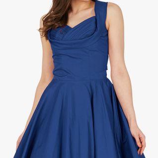 Robe taille haute vintage coloris bleu