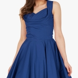 Robe vintage coloris bleu