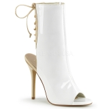Sandales bottines blanches