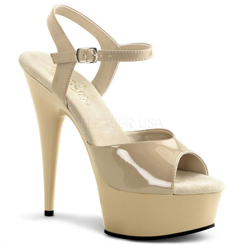 Nu-pied caramel vernis - Pointure : 46 - Pleaser - Modalova