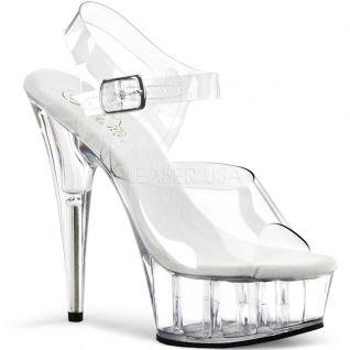 Chaussures transparentes sandales à brides talon haut delight-608
