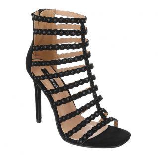 Nu-pieds noirs à brides