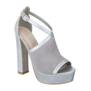 Sandales grises asymétriques