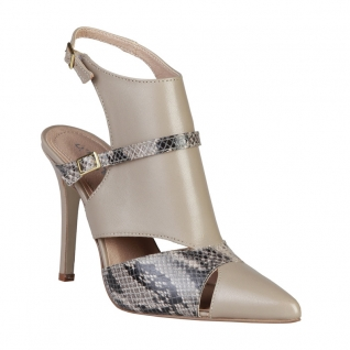 Sandale nude et python LAETITIA_TAUPE