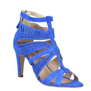 Sandale nubuck bleu AXELLE_BLUETTE