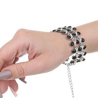 Bracelet fantaisie perles noires