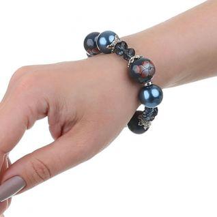 Bracelet grosses perles florales