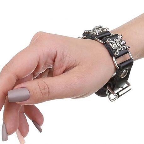 bracelet femme tete de mort