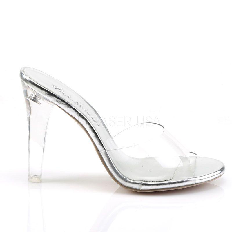 chaussure d 39 t transparente sabot sexy talon haut. Black Bedroom Furniture Sets. Home Design Ideas