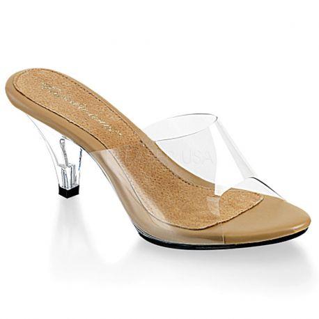 Chaussures transparentes sabots féminins petit talon belle-301t