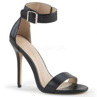Sandales noires à bride amuse-10