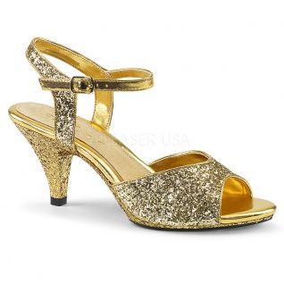 Sandales dorées paillettes