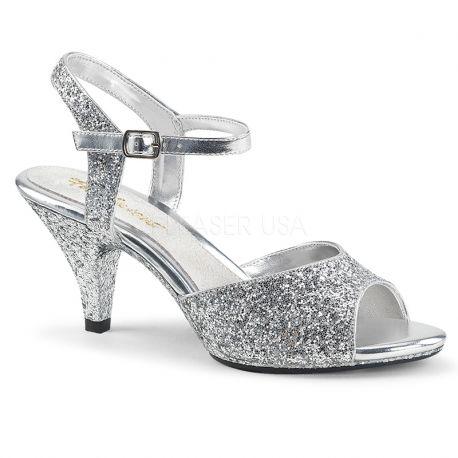 sandale argentée belle-309g