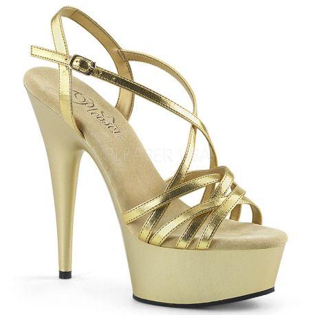 5ed0be56e4c033 Chaussure mode dorée nu-pied fille talon haut sexy