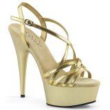 Sandales dorées plateformes