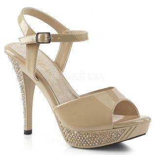 Sandale nude vernie elegant-409