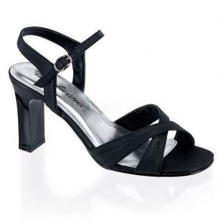 Nu-pieds satin noir