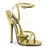 Sandales extrêmes dorées