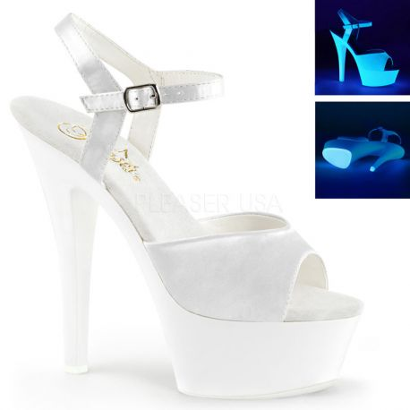 Sandales fluorescentes blanches kiss-209