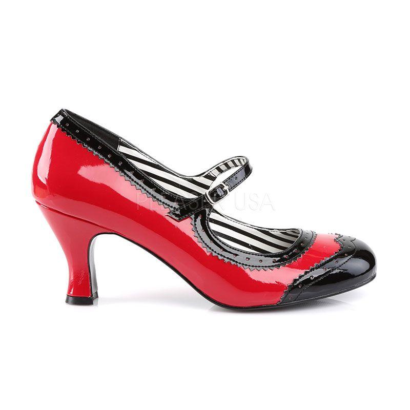 81dee42d240 Chaussures vintages vernies à bride talon bobine