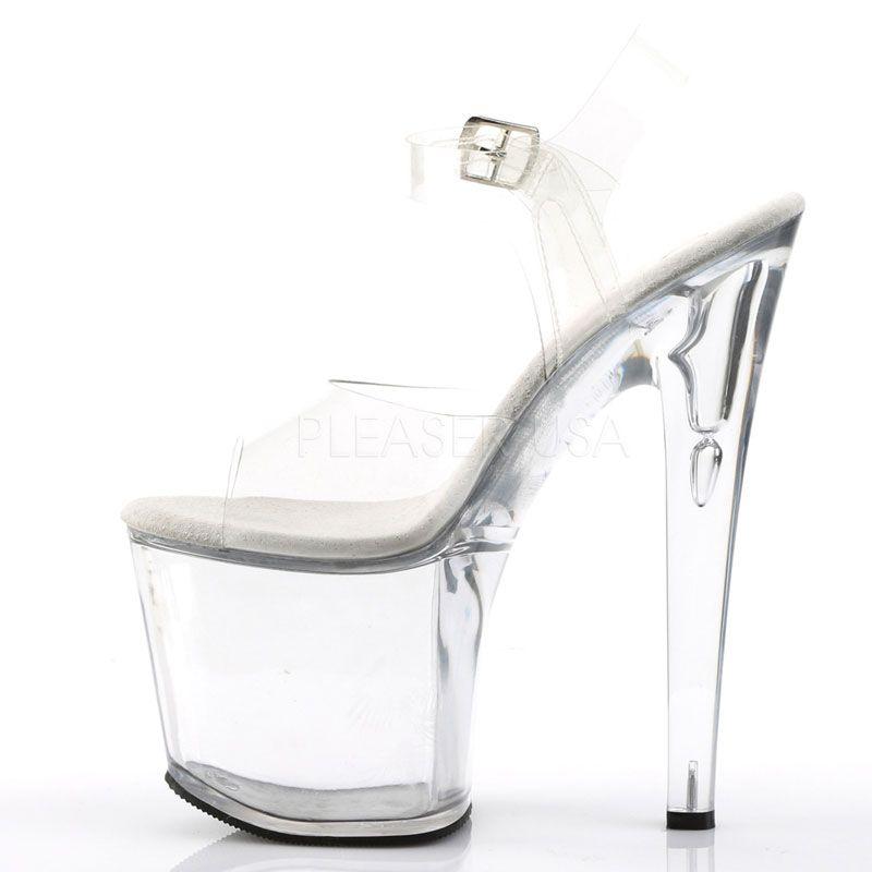 Découvrez magasins populaires vraiment à l'aise Chaussure sexy transparente talon plateforme 19 cm