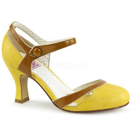 the sale of shoes outlet latest fashion Petit talon bobine style rétro ou vintage en ligne