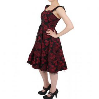 Robe bordeaux rockabilly