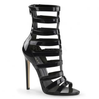 Chaussures vernies sandale à brides noires talon fin-52