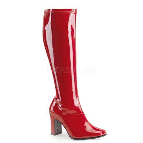 bottes Femmes Talon Haut Fait Grand Format Fin avec, Rouge, 42