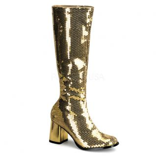 Bottes de Spectacle à Paillettes Or SPECTACUL-300SQ
