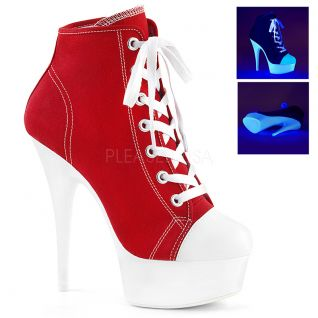 Bottines talon plateforme UV rouge