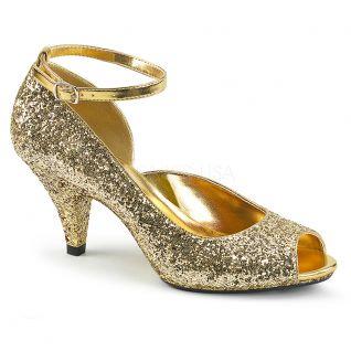 Nu-pieds glitter or belle-381g