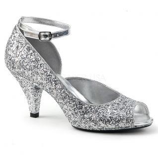 Sandales argentées belle-381g