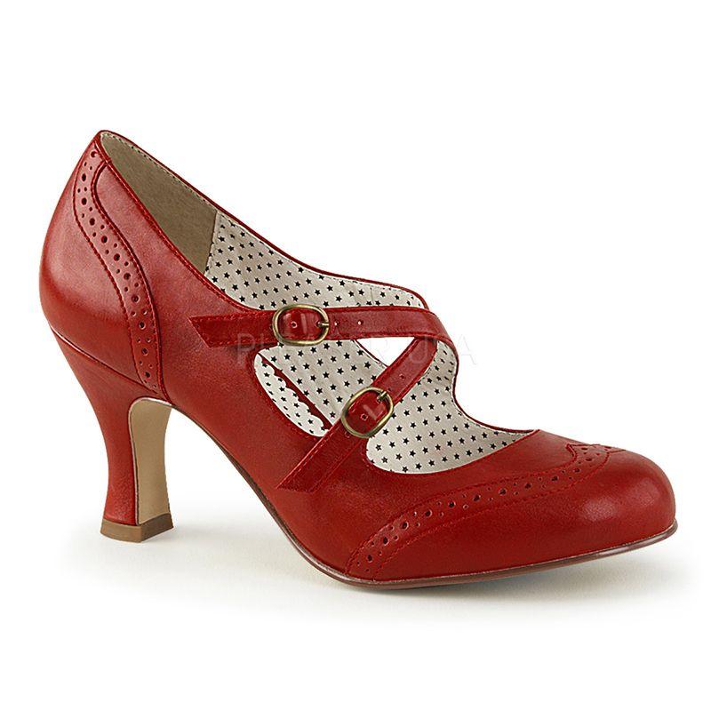 Chaussures rétros rouges escarpins d'Orsay Pin Up