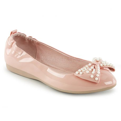 9b1cd24bf14c3 ... chaussures Pin Up ballerine rose. 1. Ballerines roses ivy-09