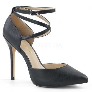 Escarpins d'Orsay noirs mats talon haut